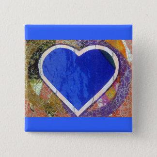 Blue Heart Button