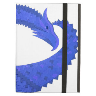 Blue heart dragon on white case for iPad air