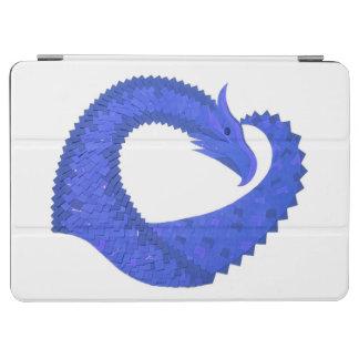 Blue heart dragon on white iPad air cover