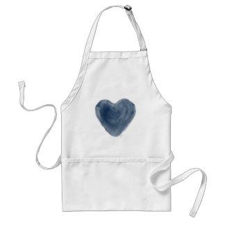 Blue Heart Edition Watercolor Standard Apron