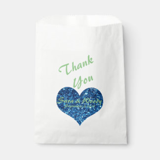 Blue Heart Favour Bag