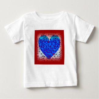 Blue Heart In Red Baby T-Shirt