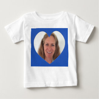 Blue Heart Photo Frame Baby T-Shirt