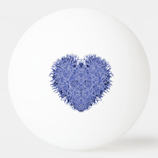 Blue Heart Ping Pong Ball
