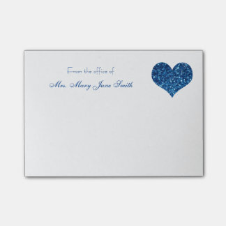 Blue Heart Post-it® Notes
