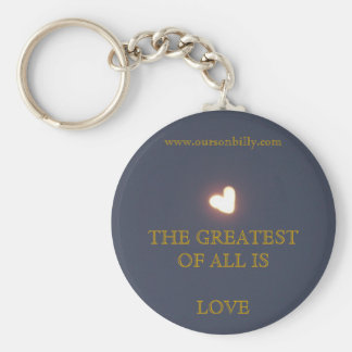 blue heart shaped moon key chain