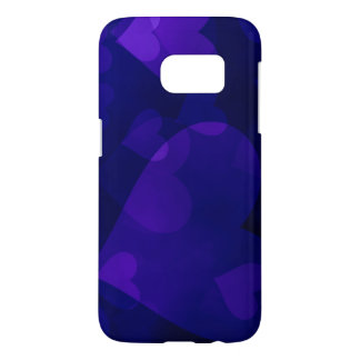 Blue Hearts Computer Designed Art Phone Case