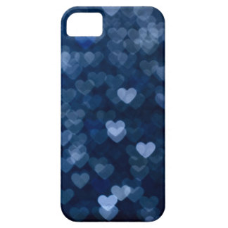 blue hearts iPhone 5 cover