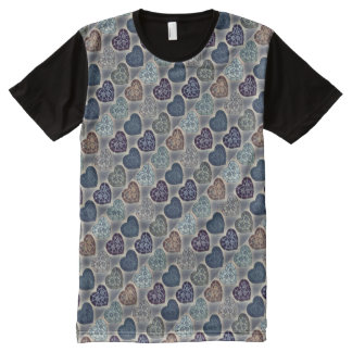 Blue Hearts - Original Design by Aleta All-Over-Print T-Shirt