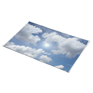Blue Heaven Clouds + your ideas Placemat