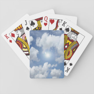 Blue Heaven Clouds + your ideas Playing Cards