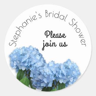 Blue Heaven Floral Bridal Shower Envelope Seal