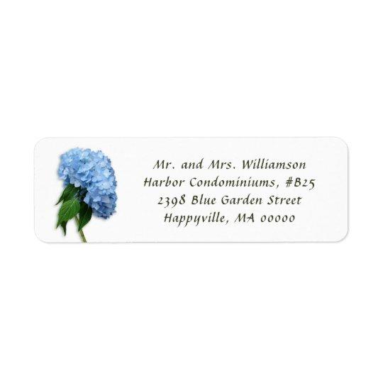 Blue Heaven Floral White Return Address Labels