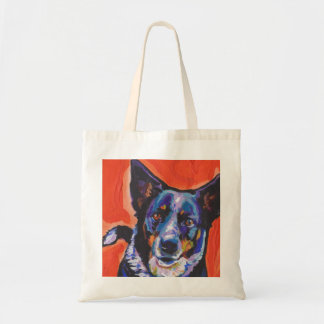 Blue Heeler Dog  Pop Art Tote Bag