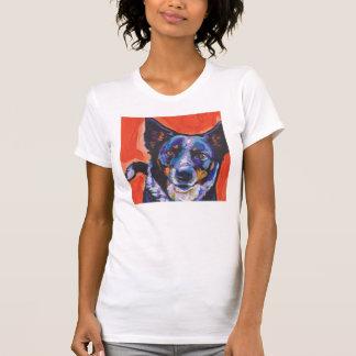 Blue Heeler Dog  Pop Art Tee Shirt
