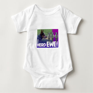 BLUE HEELER I HERD EWE (I HEARD YOU) BABY BODYSUIT