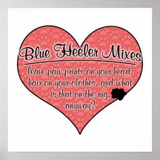 Blue Heeler Mixes Paw Prints Dog Humor