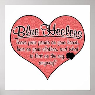 Blue Heeler Paw Prints Dog Humor