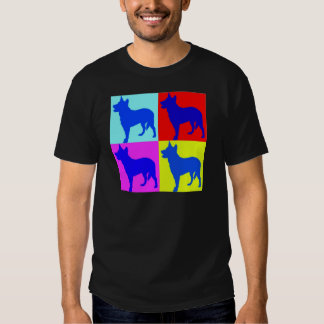 Blue Heelers Color Wall T-shirts