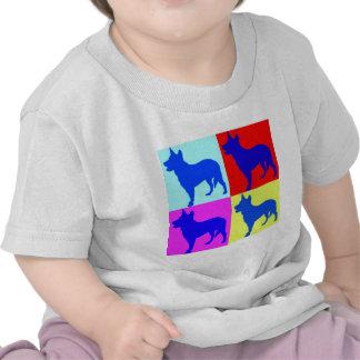 Blue Heelers Color Wall Tee Shirts