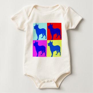 Blue Heelers Colour Wall Baby Creeper