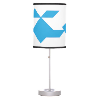 Blue helicopter Tangram Table Lamp