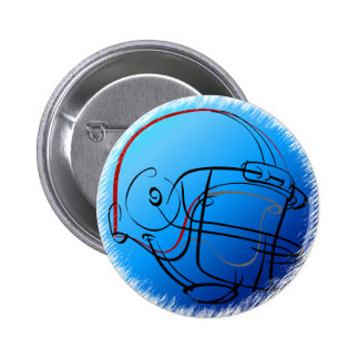 Blue helmet 2 inch round button