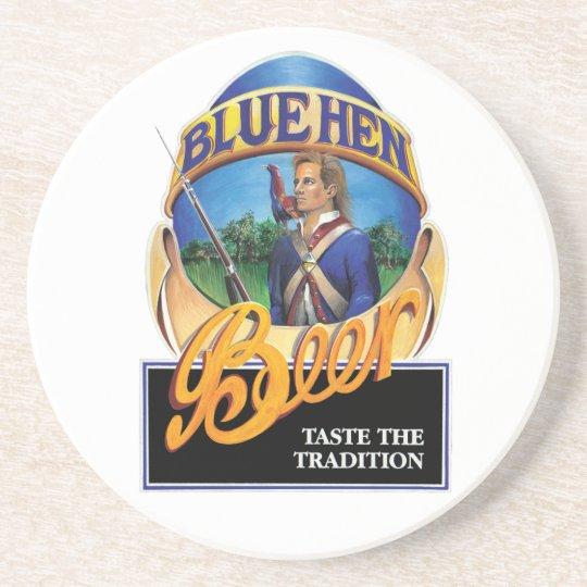 Blue Hen Beer Sandstone Drink Coaster