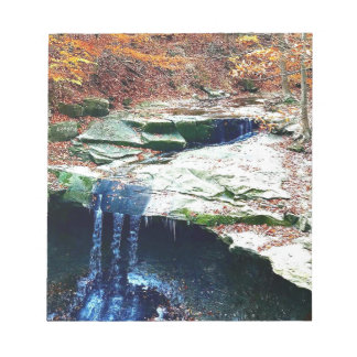 Blue Hen Falls Cuyahoga National Park Ohio Notepad