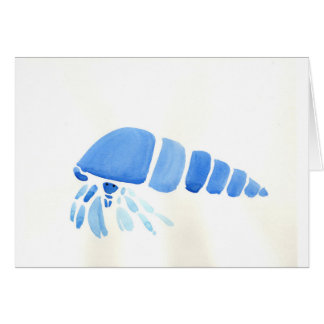 Blue Hermit Crab Card