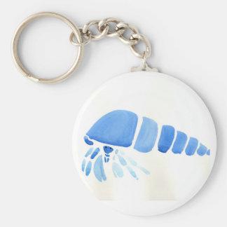 Blue Hermit Crab Keychain