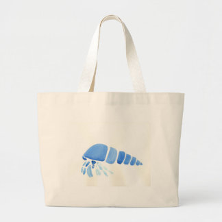 Blue Hermit Crab Large Tote Bag
