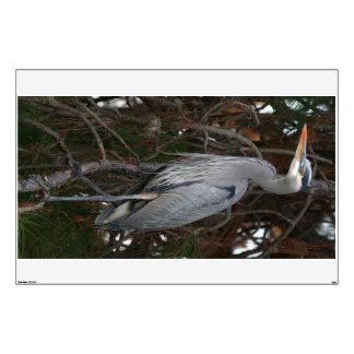 Blue Heron Bird Wall Decal