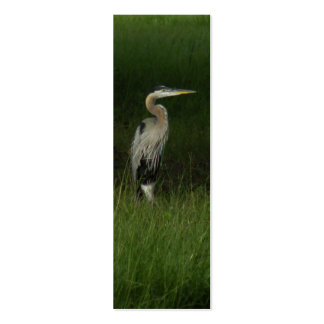 Blue Heron Bookmark Pack Of Skinny Business Cards