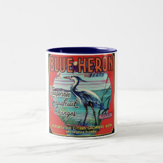 blue heron brand mug
