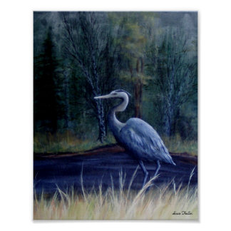 Blue Heron by Suzie Thaller Poster