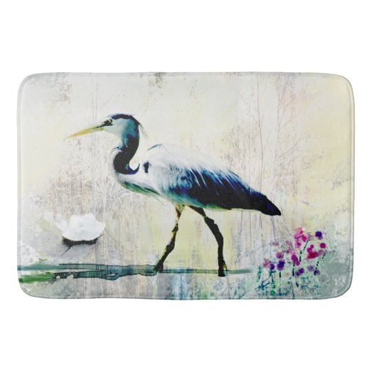 Blue Heron Custom Bath Mat