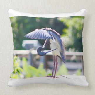 Blue Heron - Florida Birds - Throw Pillow