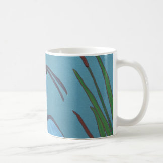 Blue Heron in the Cattails Coffee Mug