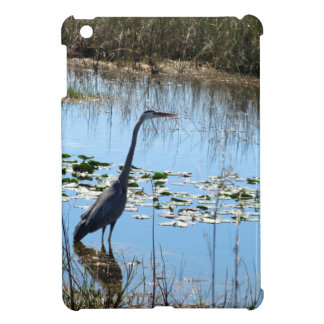 Blue Heron in the Glades Cover For The iPad Mini