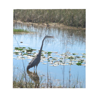 Blue Heron in the Glades Notepad