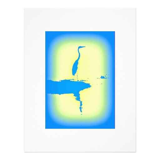 blue heron letterhead template