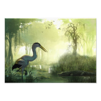 Blue Heron Morning Photo Print