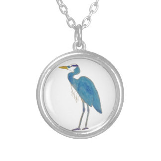 Blue Heron Necklace