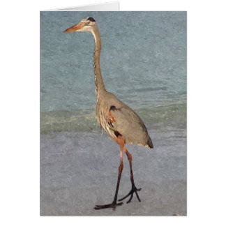 Blue Heron Painted Note Cards