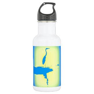 blue heron 18oz water bottle