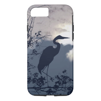 Blue Heron silhouette photography iPhone 8/7 Case