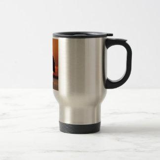 Blue Heron Silhouette Travel Mug