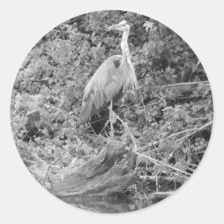 Blue Heron Round Sticker