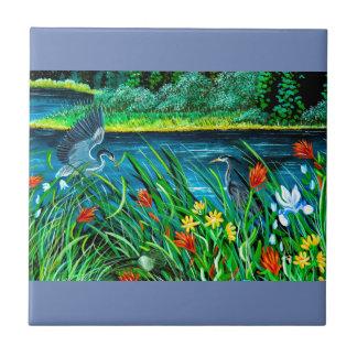 Blue Heron Tile